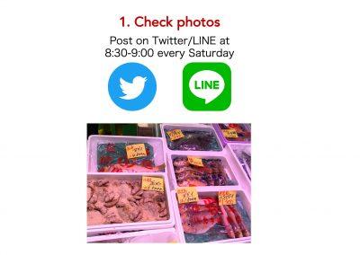 Tsukiji Sabuchan, place an order, check photos