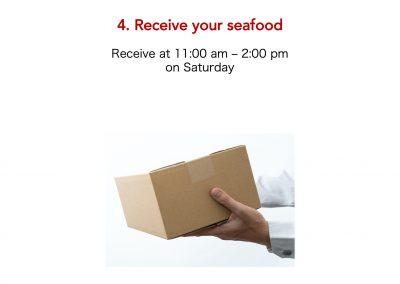 Tsukiji Sabuchan, place an order, receive your seafood